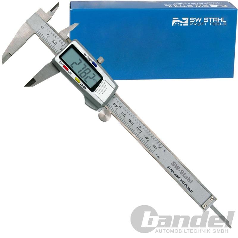 SW STAHL DIGITAL-SCHIEBLEHRE MESS-SCHIEBER LEHRE 0-150 mm LCD-DYSPLAY BATTERIE