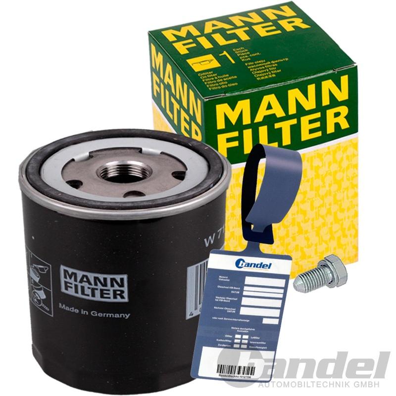 MANN ÖLFILTER W712/95 1.0-1.4 TSI TFSI TGI AUDI A1 A3 VW UP POLO GOLF 7 SEAT MII