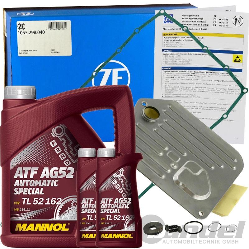ÖLWECHSELSATZ ZF ÖLFILTER + 6L ATF ÖL 5HP30 5-GANG AUTOMATIK BMW V8 E34 E39 E38