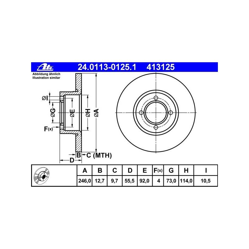 2X Delphi Bremsscheiben /Ø284Mm Set Vorne