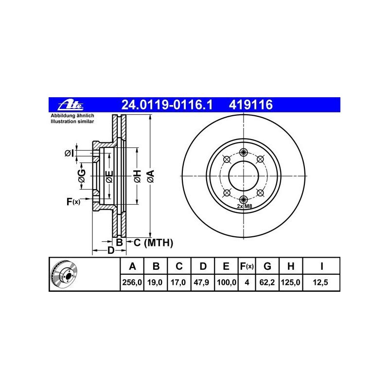 Bremsensatz NK 223403 Bremsscheiben und Beläge Vorn HYUNDAI ACCENT II