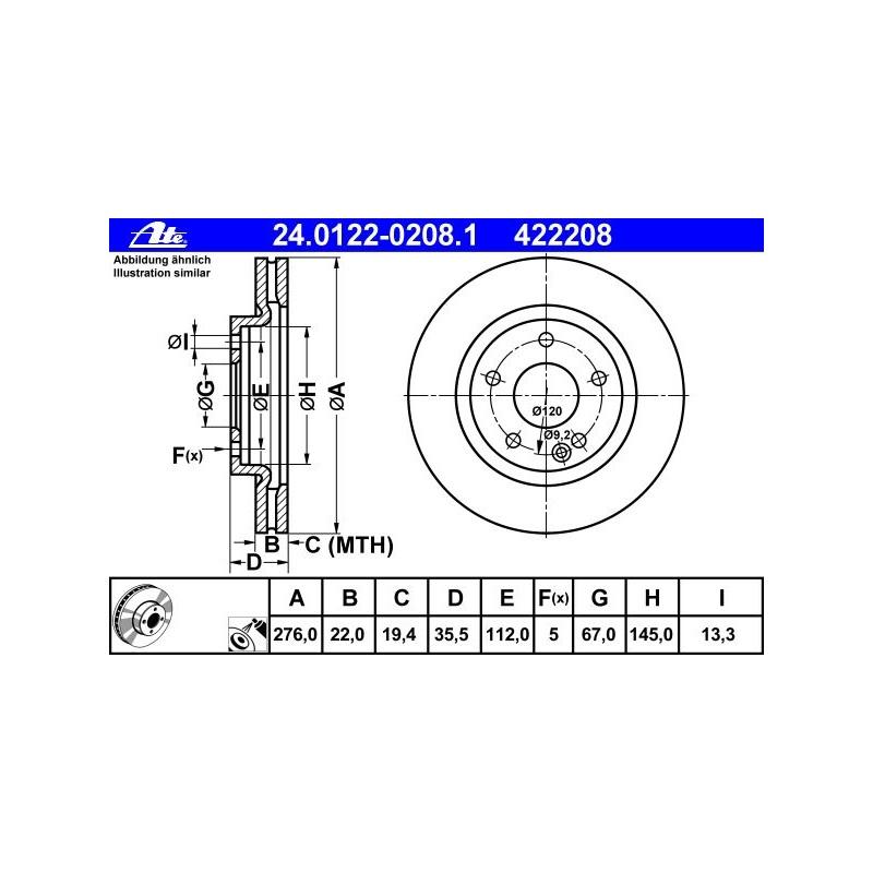 BELÄGE VORNE MERCEDES W168 A190 A210 125PS 140PS BREMSE BREMSSCHEIBEN 276mm