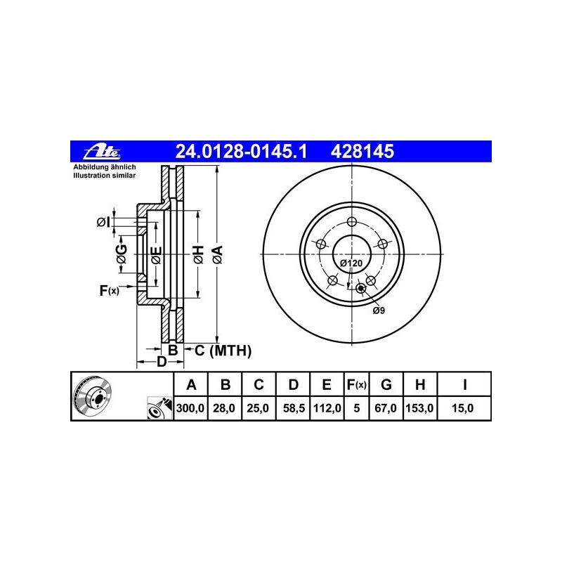 2x TRW Bremsscheiben vorne belüftet 300mm für MERCEDES-BENZ V KLASSE DF4373