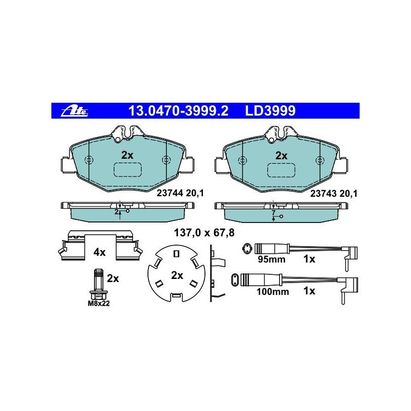 2 x Textar Bremsscheibe PRO VA innenbelüftet passend für divers Opel 92111103