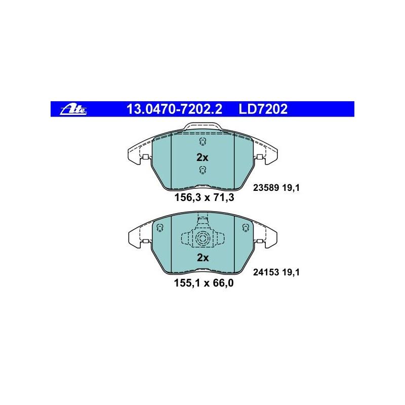 4x TRW Bremsbeläge vorne Für PEUGEOT 308 307 3008 GDB1605