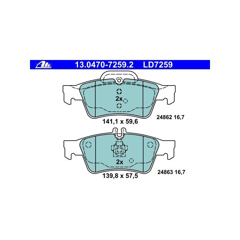 ATE CERAMIC BREMSBELÄGE HINTEN MERCEDES E-KLASSE W212 S212 CLS C218 X218