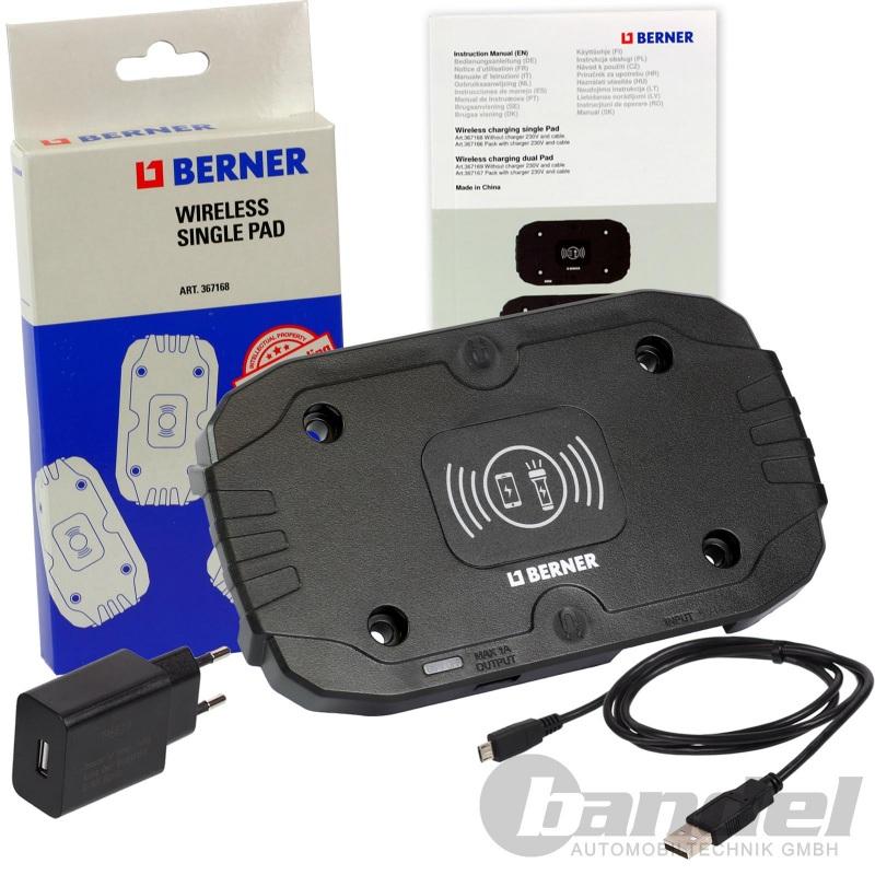 BERNER 201071 USB Micro USB Ladekabel für Werkstattlampen BERNER Smartphone