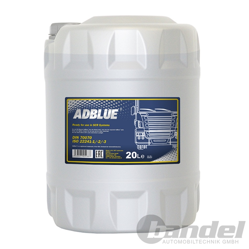 [0,87€/L] 20 Liter AdBLUE Harnstofflösung SCR Abgasreinigung Diesel TDI CDI HDI