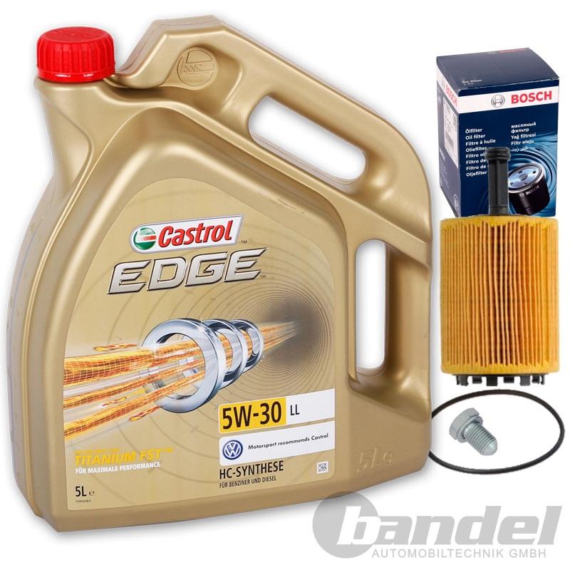 bosch Ölfilter 1457429192 + 5 liter motorÖl 5w-30 castrol edge +
