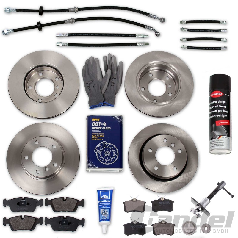 ATE Bremsscheiben und Bremsbeläge Audi 80 B4 und Cabrio Vorne und hinten