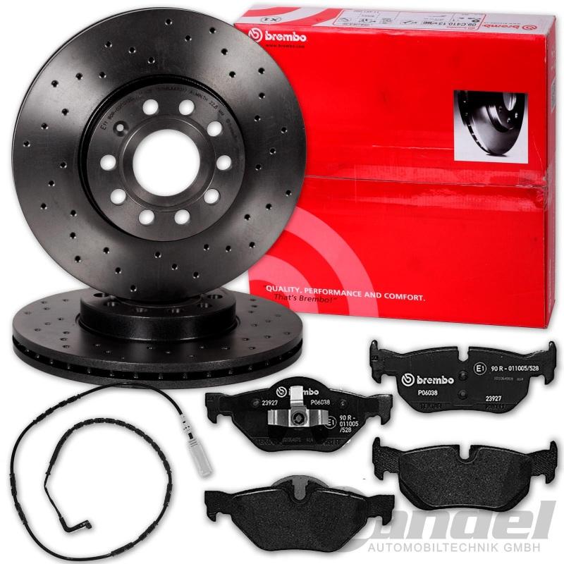Bremsen Bremsscheiben Beläge Set für vorne hinten BMW 3er E90 E91 E92 E93