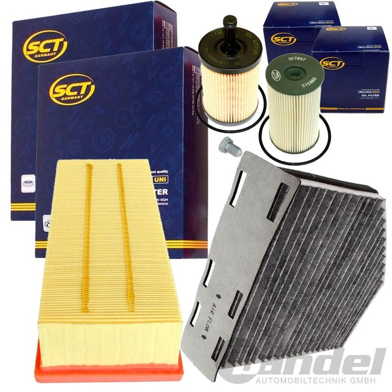 filter set inspektionspaket 1.9+2.0 tdi vw touran passat 3c caddy