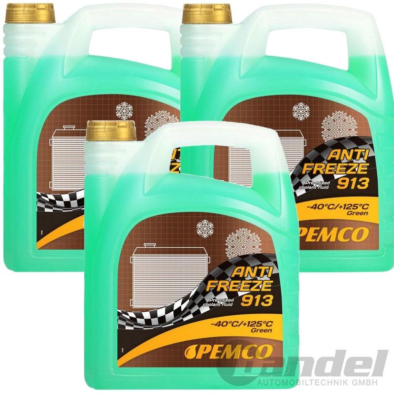 15 Liter Pemco 913 Kühler Frostschutz bis -40°C/ grün