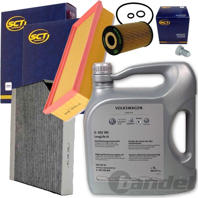 inspektionssatz filterset+original 5w30 Öl 2.0 tdi diesel audi a4 b8