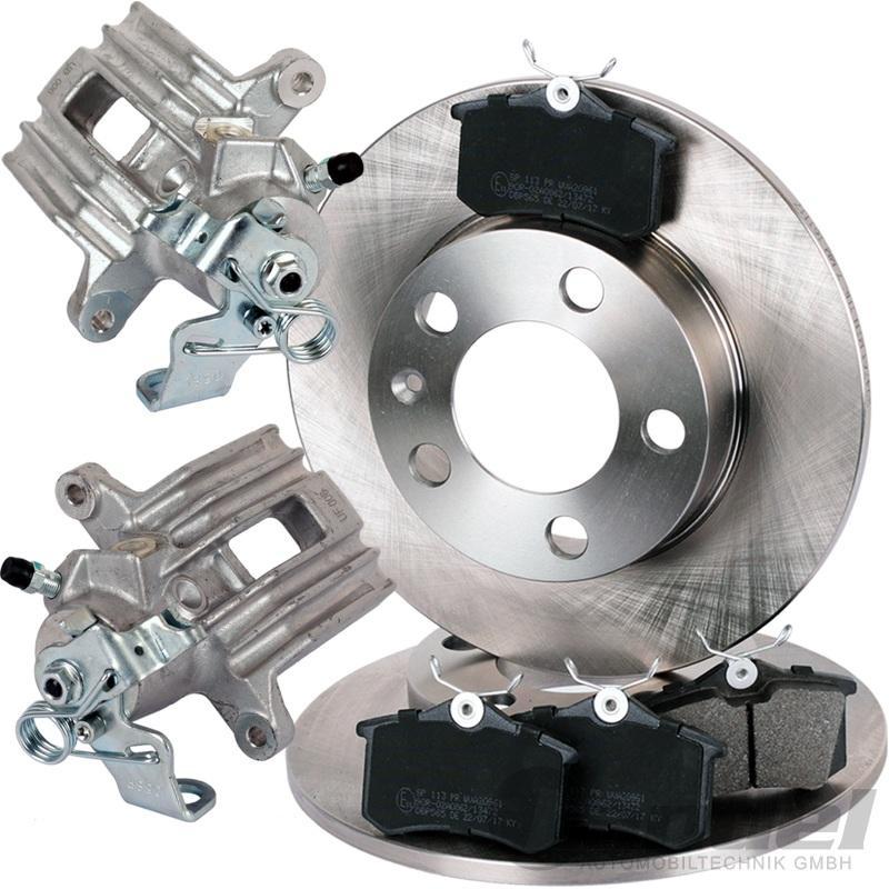 Set 2 Bremsscheiben 4 Bremsbeläge hinten Hinterachse Kia Picanto 1,0 1,1 Ltr