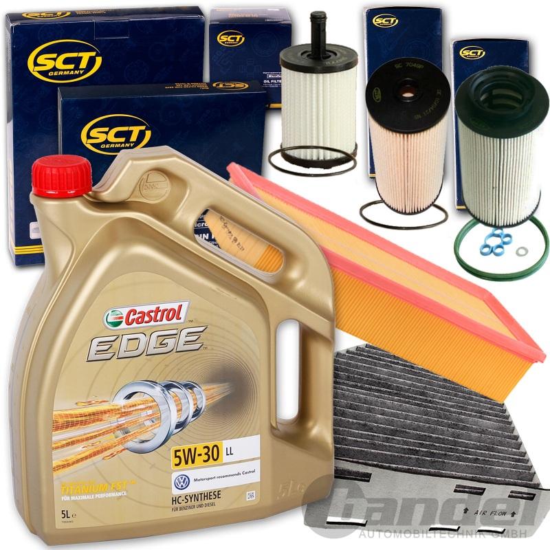 filterset inspektionskit+5w30 Öl 1.9+2.0 tdi vw touran
