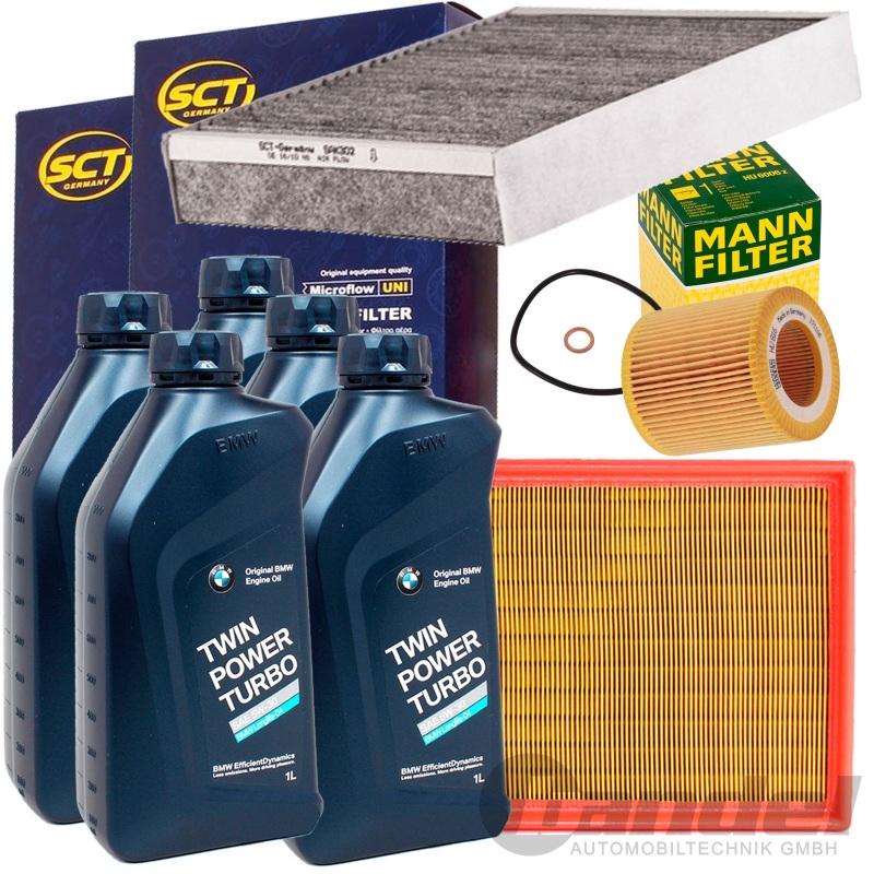 filter set kit original bmw 5w30 l 1er f20 21 114 118i. Black Bedroom Furniture Sets. Home Design Ideas