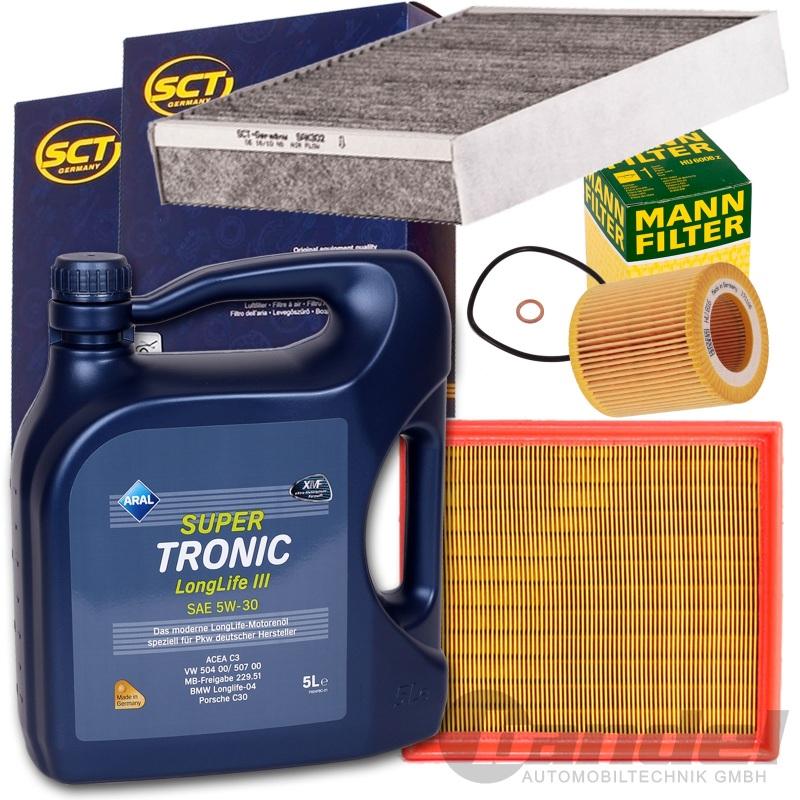 filter set kit aral 5w30 l bmw 1er f20 21 114 118i 3er. Black Bedroom Furniture Sets. Home Design Ideas