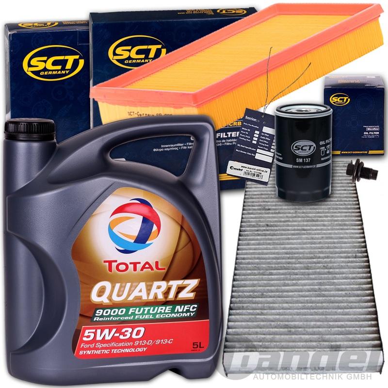 1,6 16V DAW Inspektionspaket Luftfilter Ölfilter Pollenfilter Ford Focus 1,4