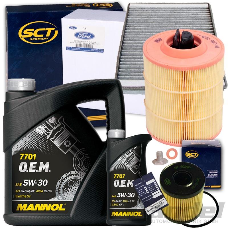 filterset inspektionskit mannol 5w30 l 2 2 tdci ford. Black Bedroom Furniture Sets. Home Design Ideas