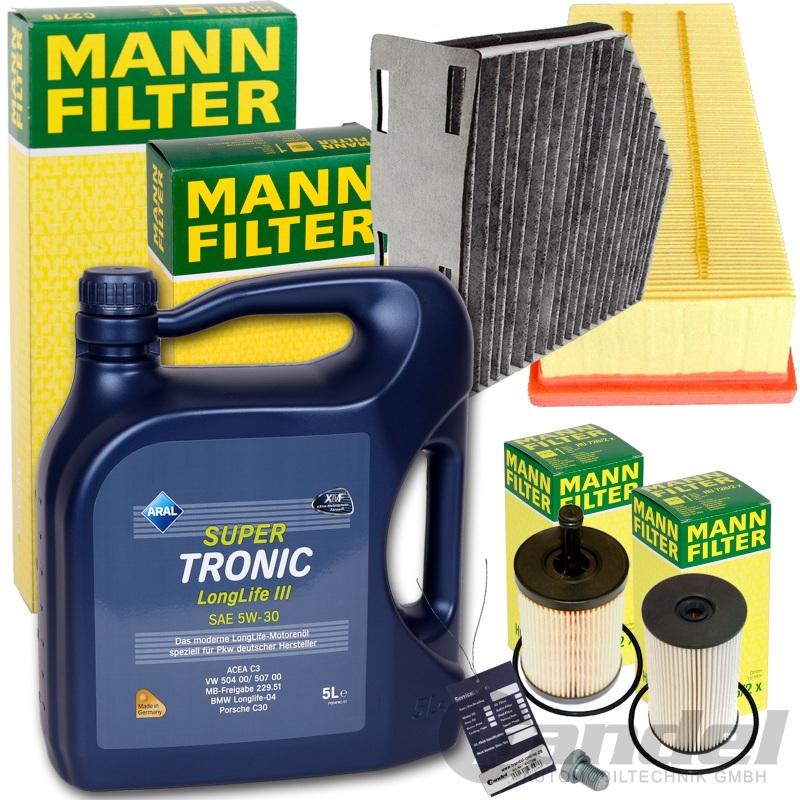 mann filter set paket luft Öl++ 5w30 Öl 1.9+2.0 tdi touran passat 3c