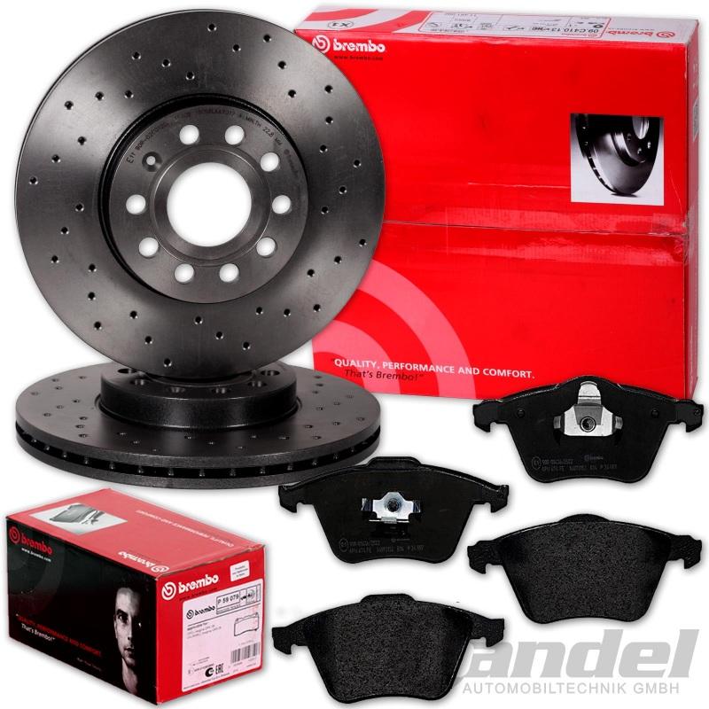 Bremsenset Kit Bosch 2 Bremsscheiben 300mm und Bremsbeläge Vorne für Mazda 3 5