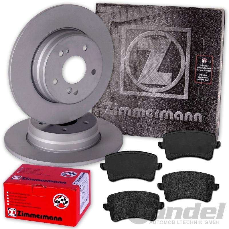 ZIMMERMANN Bremsscheiben Ø300mm A5 8T 8F Bremsbeläge vorne für Audi A4 B8
