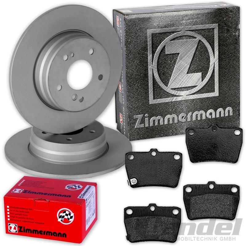 Zimmermann Bremsscheiben Bremsbeläge hinten Toyota Rav 4 2,0 2,2 2,4
