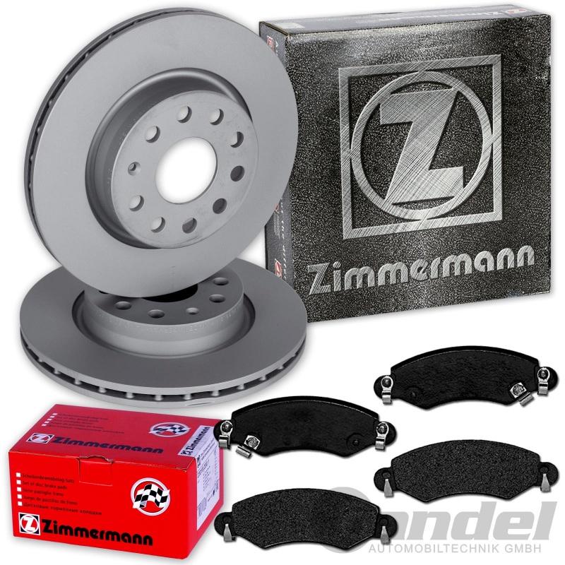 Zimmermann Bremsscheiben Bremsbeläge vorne für Opel Agila Subaru Justy Ignis