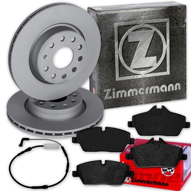 Bremsbeläge Sensor hinten BMW 1 E81 E87 Bremsscheiben 280mm voll