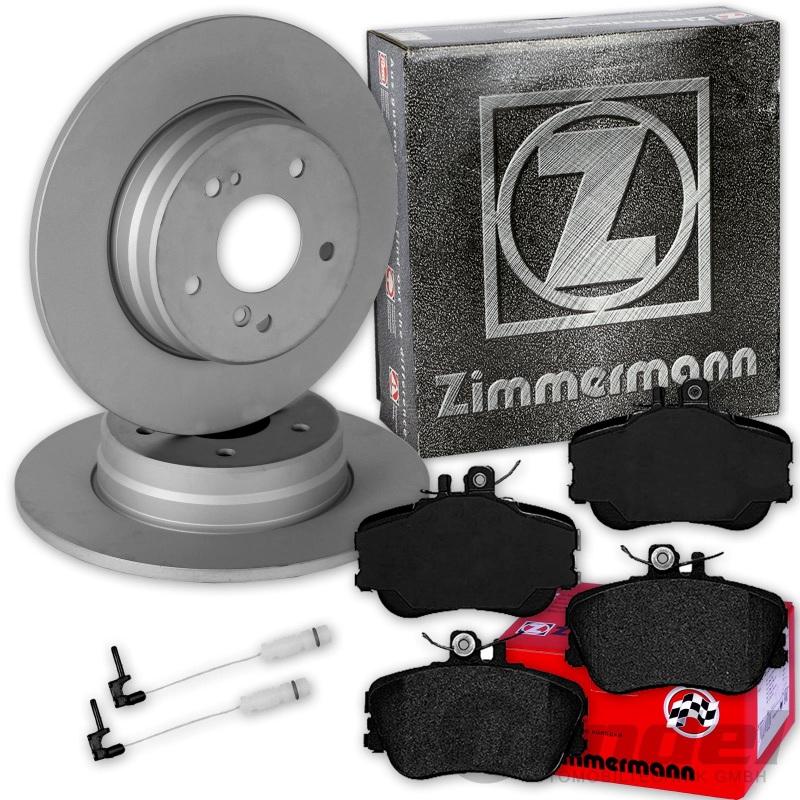 Zimmermann BREMSSCHEIBEN 284mm + BELÄGE VORNE MERCEDES C-KLASSE W202