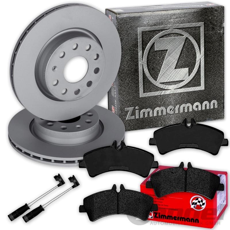 ZIMMERMANN Bremsen Kit Bremsscheiben Beläge Mercedes Sprinter 906 vorne