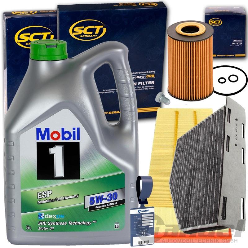 FILTERSET+MOBIL  5W30 ÖL 1.6+2.0 TDI VW TOURAN PASSAT GOLF 5 6 SEAT LEON  AUDI