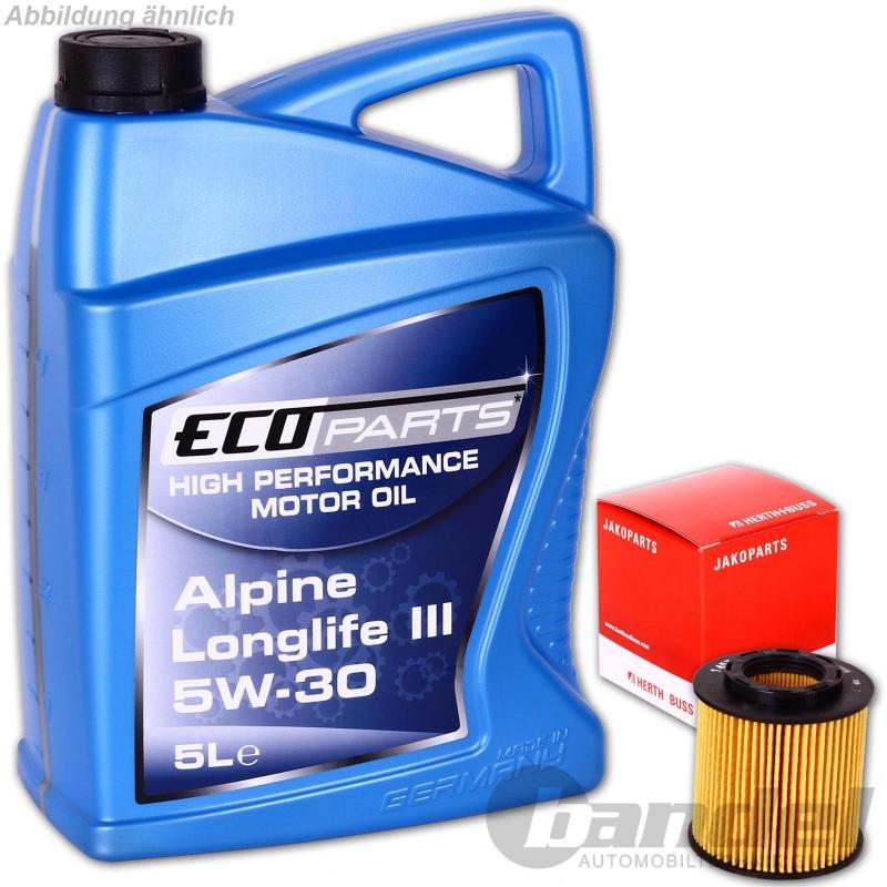 Ölfilter herth+buss jakoparts + 5 liter motorÖl 5w-30 longlife