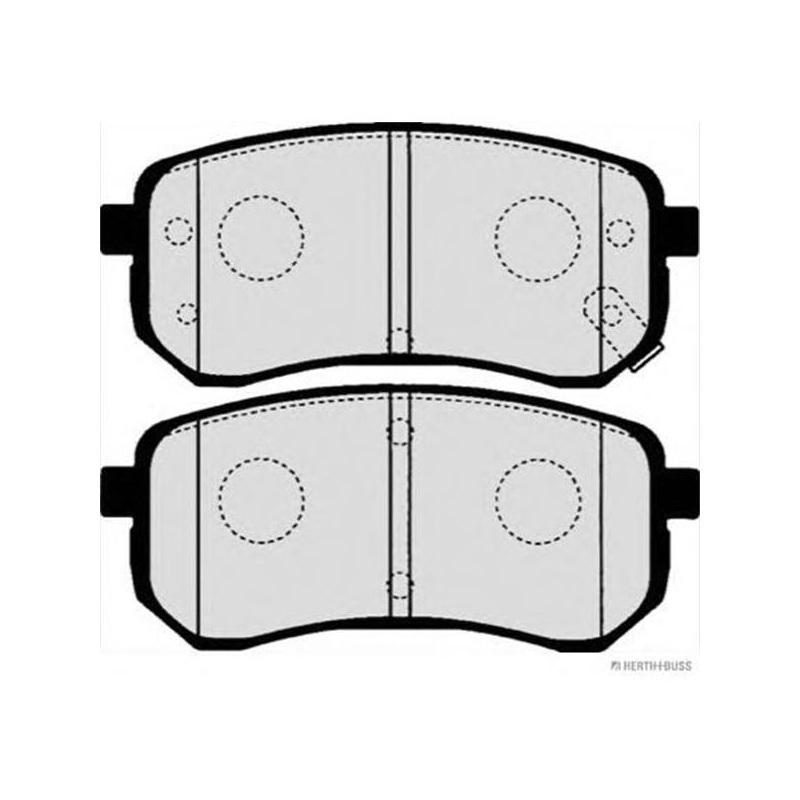 Scheibenbremse MAPCO 6816 hinten für HYUNDAI KIA Bremsbelagsatz
