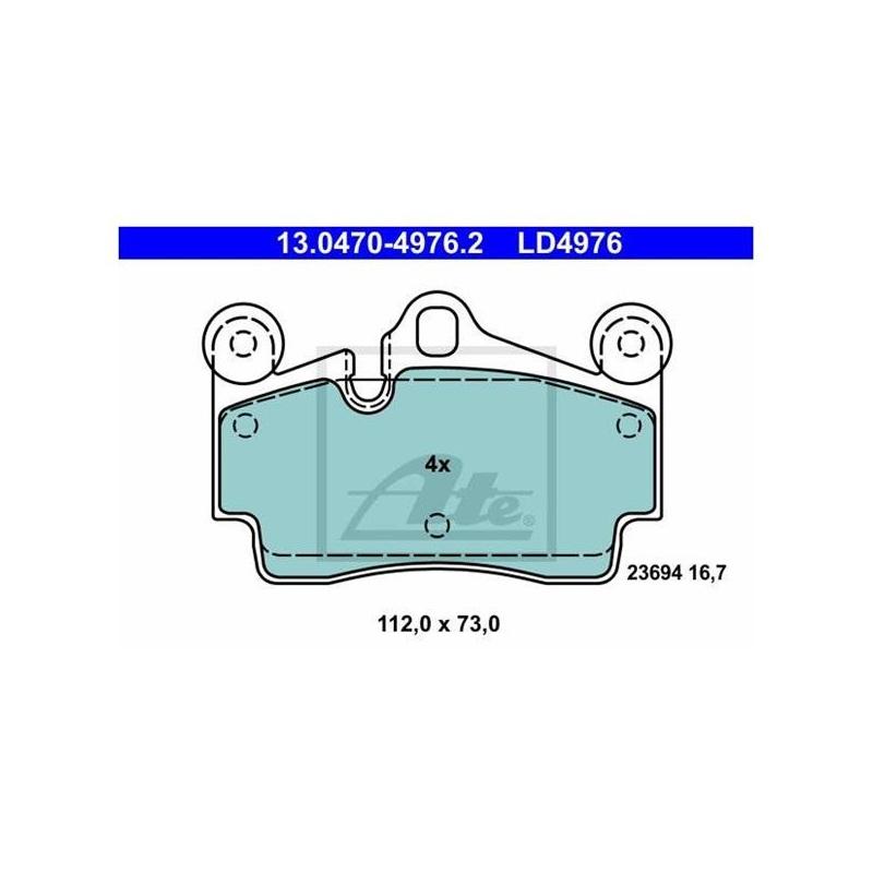 ATE Ceramic Bremsbeläge Warnkontakt für hinten Audi Q7 VW Touareg Cayenne