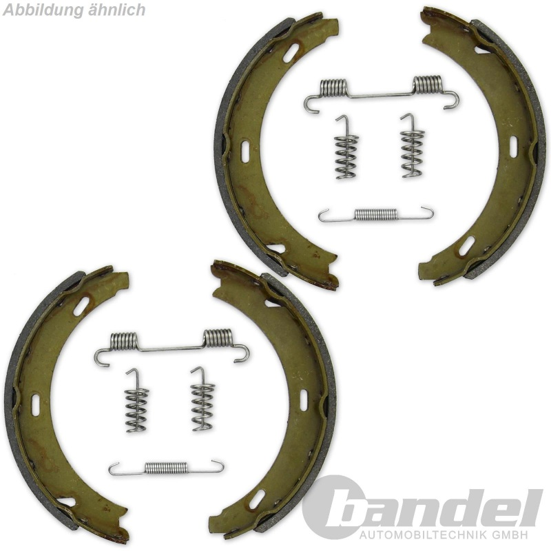 Bremsbacken Bremsen für die Handbremse Zubehör hinten Hinterachse Bmw 7er E38