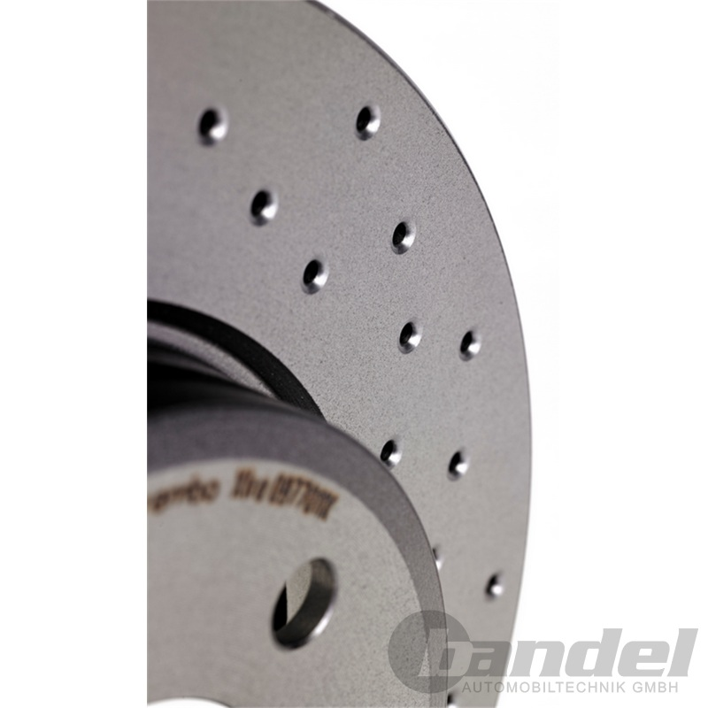 BREMBO XTRA LINE Sport Bremsscheiben /Ø280mm gelocht BREMBO Bremsbel/äge Bremsbelagsatz hinten Hinterachse