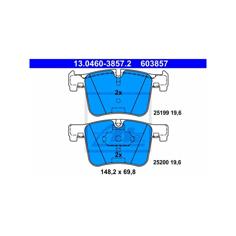 Warnkontakt Verschleißanzeiger Sensor hinten BMW 1 F20 F21 2 F22 F23 3 F30 F34 4