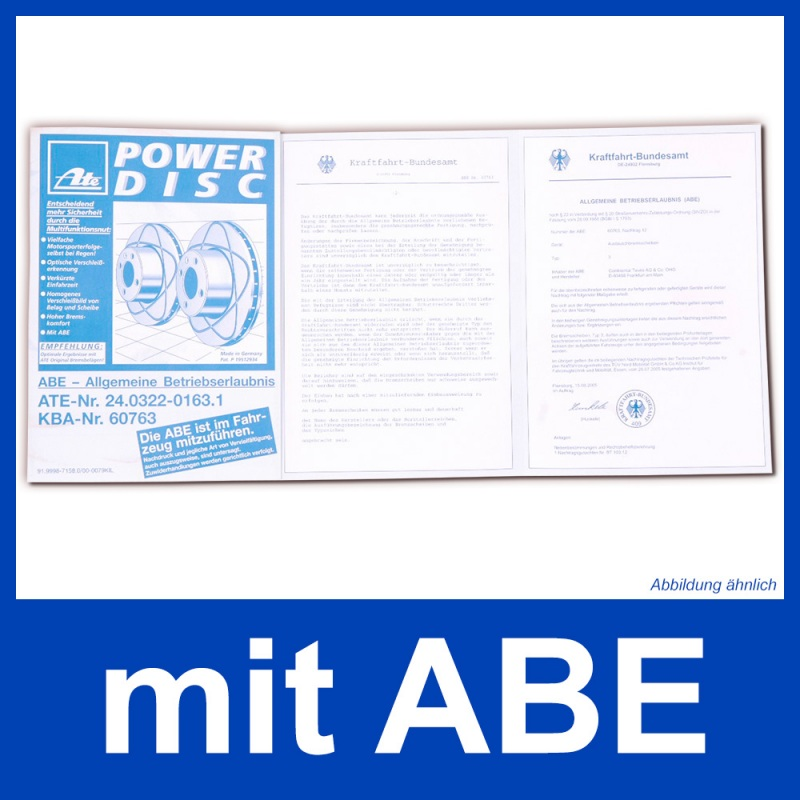 ATE PowerDisc Ø280mm+BELÄGE VORNE AUDI A4 B6,B7 SEAT EXEO 3B VW PASSAT