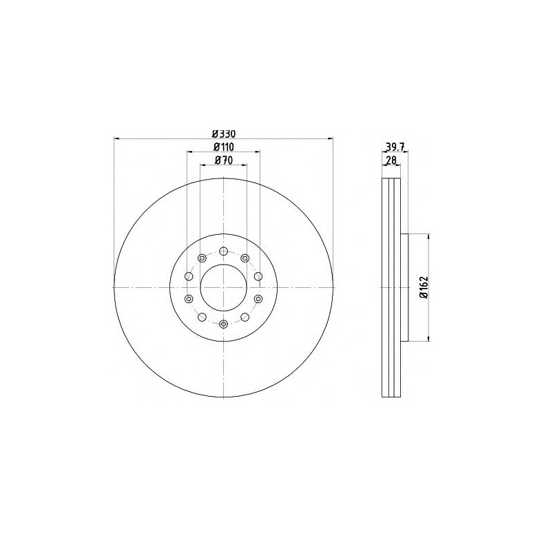 BREMSBELÄGE SET HINTEN ALFA ROMEO 159 2.0 1.9 JTDM TRW BREMSSCHEIBEN Ø278mm