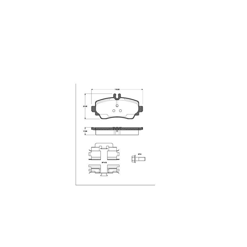 2 Bremsscheiben Delphi BG3395 Vorne belüftet Ø 260 mm Mercedes A-Klasse 168