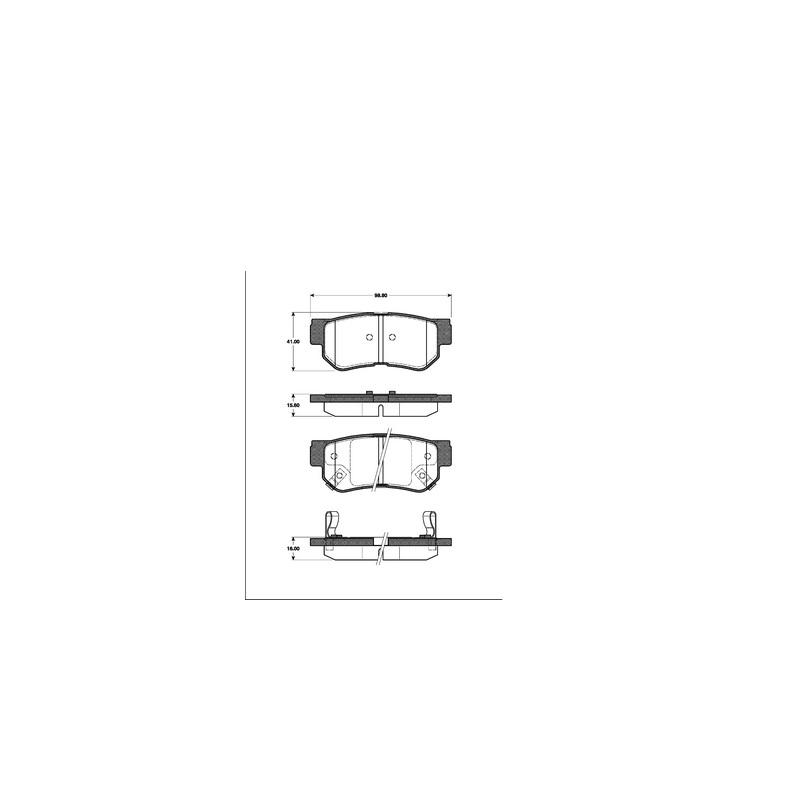 Bremsbeläge Bremsklötze SAAB 95 YS3E hinten  Hinterachse