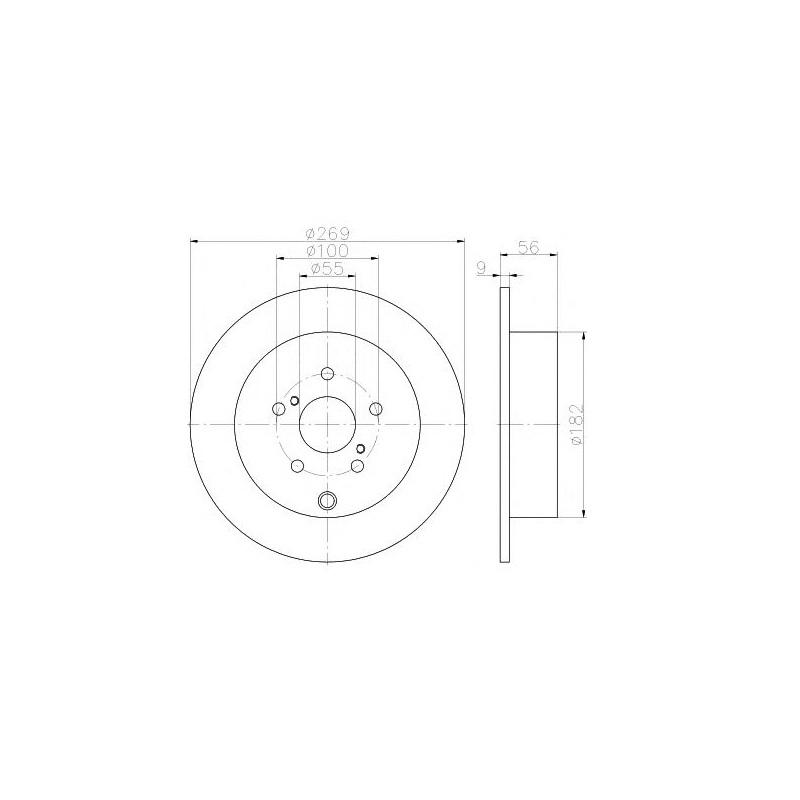 17169 2x Bremsscheibe für Bremsanlage Hinterachse A.B.S