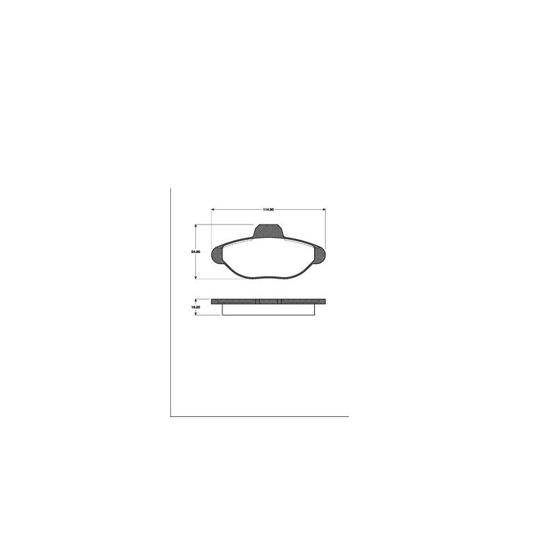 ZIMMERMANN Bremsbeläge Bremsbelagsatz Fiat Cinquecento 0.7 0.9 1.1 vorne 170