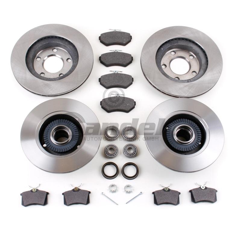 Bremsensatz Hinten für RENAULT LAGUNA III mit ABS Ring /& Radlagersatz