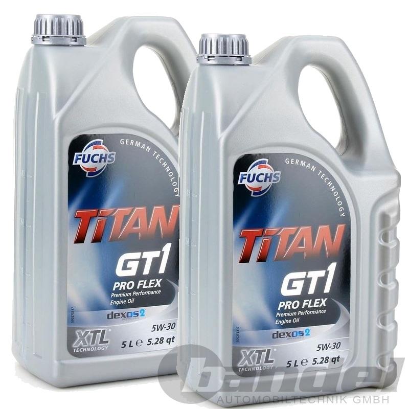 2x5 liter fuchs titan gt1 pro flex sae 5w 30 motor l opel. Black Bedroom Furniture Sets. Home Design Ideas