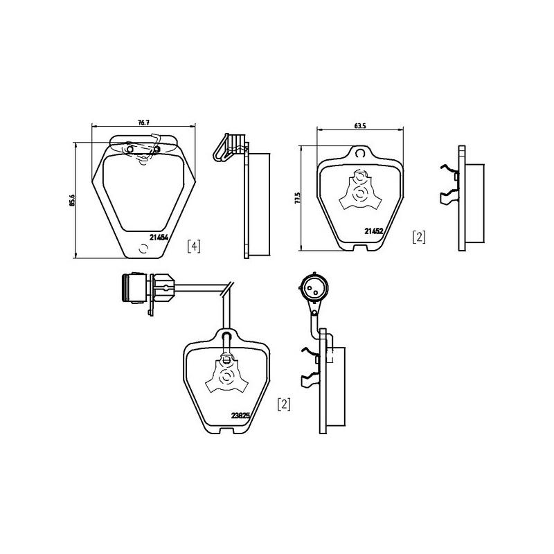 Scheibenbremse 16999 für AUDI FEBI BILSTEIN Bremsbelagsatz