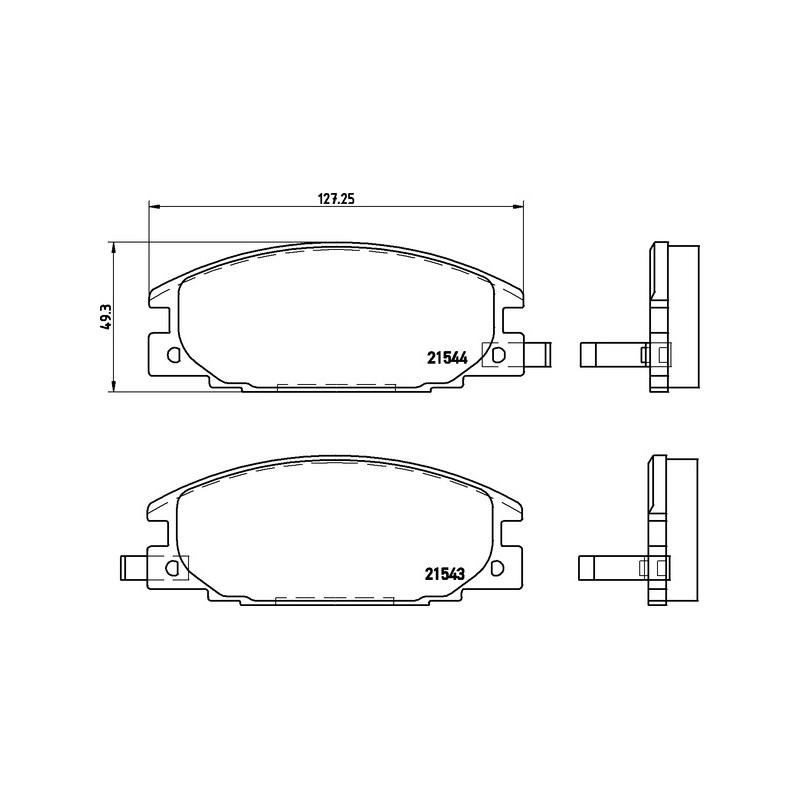 4 Textar Bremsbacken hinten Isuzu Trooper UBS Opel Campo 2,3-3,1