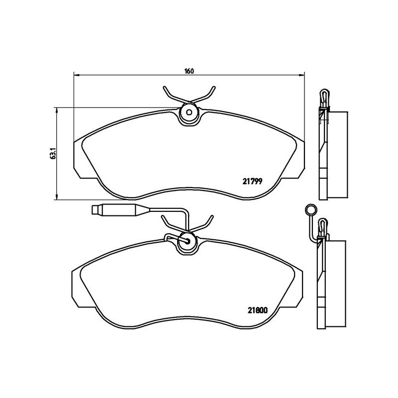 Bremsbelagsatz VA Fiat Ducato 230 1.9  59kW Bremsbeläge Bremse 77362209 71752993